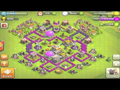 Clash of Clans - Town Hall Level 7 Base Redesign