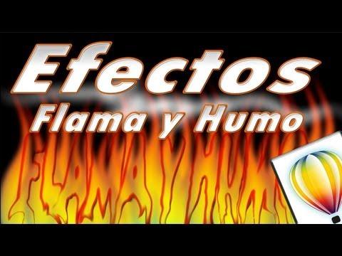 Tutorial CorelDRAW Efectos de Flama y Humo