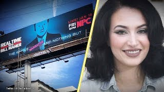 Martina Markota: Guerrilla artist mocks Bill Maher with NPC billboard