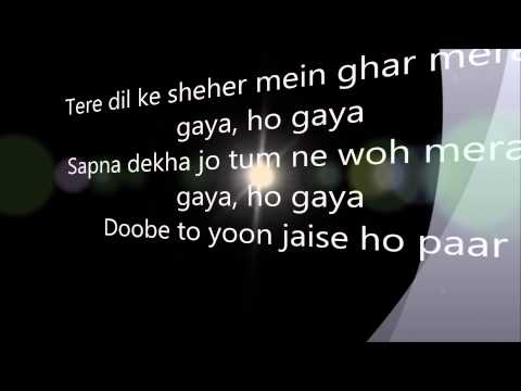 Hona Tha Pyar -atif Aslam Lyrics video