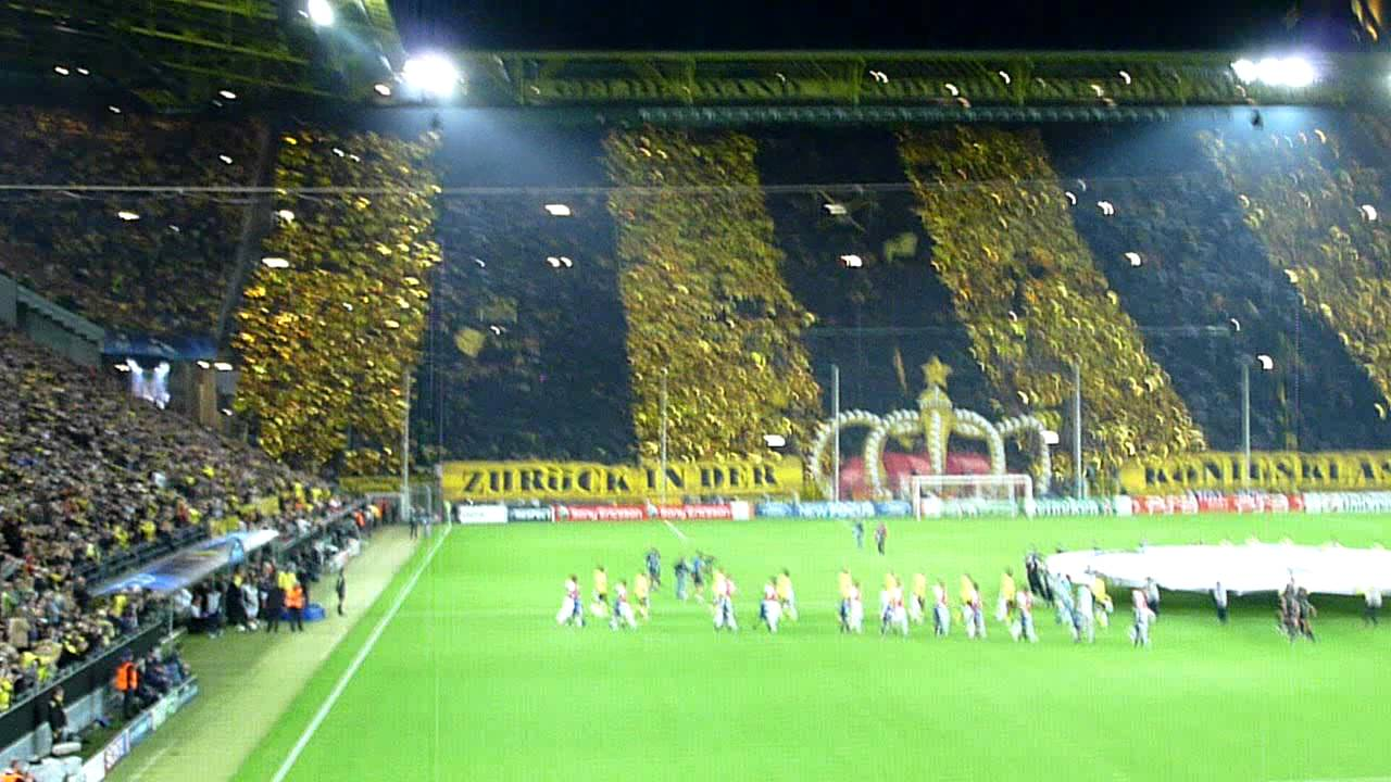 Dortmund Fans at Arsenal Borussia Dortmund vs Arsenal