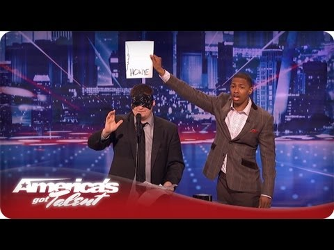 Psychic Guesses the Judge's Drawings - America's Got Talent Season 7 - Eric Dittleman Audition