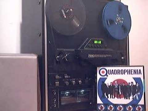 Teac X-2000R reel-to-reel playing Quadrophenia