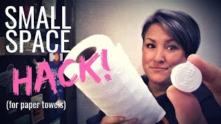 SMALL SPACE HACK! Save Space on Paper Towels in RVs, Vans or Tiny Homes