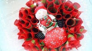 Easy Deco / Geo Mesh Loop Christmas Wreath