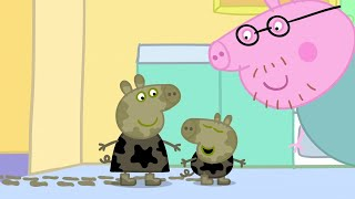 Peppa Pig Season 1 Episode 1 - Muddy Puddles - Cartoons for Children