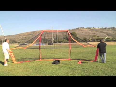 Bow Net Portable Backstop Bowbs Setup And Breakdown How