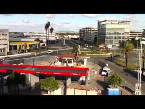 Jerez Television Derribo gasolinera antigua N-IV