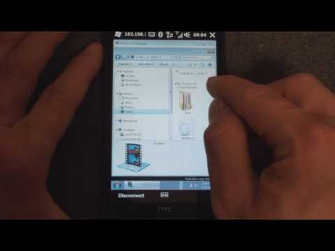 Video: HTC HD2: Remote Desktop Mobile