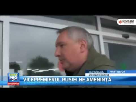 Vicepremierul rus: România mi-a închis spațiul aerian, data viitoare voi zbura cu un bombardier