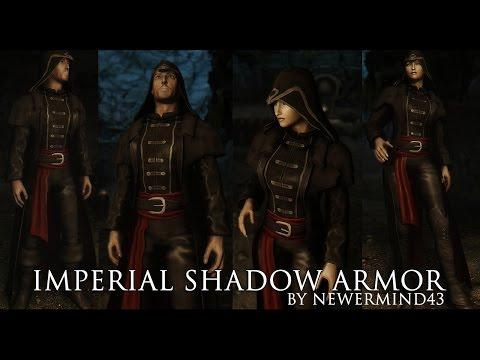 TES V - Skyrim Mods: Imperial Shadow Armor