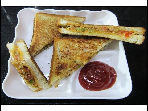 Paneer Sandwich/ Paneer BreadToast in Kannada/ Lunch Box Recipe/Bread Toast Recipe/
