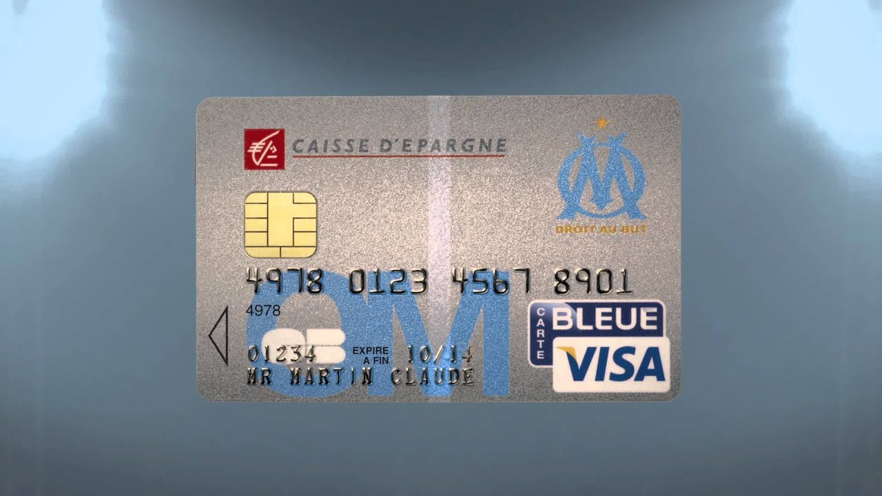 carte bleue visa caisse d 39 epargne olympique de marseille youtube. Black Bedroom Furniture Sets. Home Design Ideas