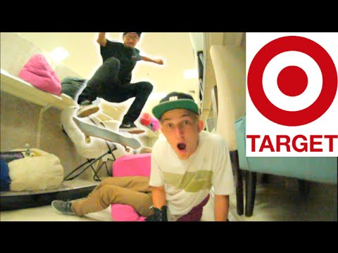 Skateboarding in TARGET! (We didn't get kicked out!!)