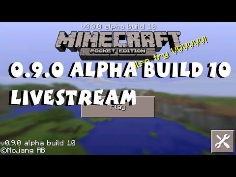 Minecraft Pocket Edition 0.9.0 Alpha Build 10 Livestream (Day 1)