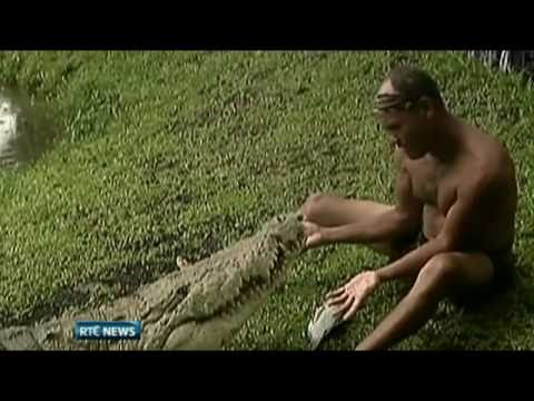 Chito and and his pet Crocodile Pocho