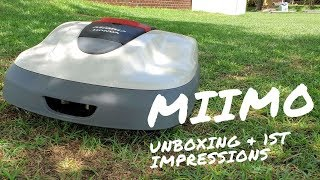 Miimo Robotic Mower Unboxing and  First Impressions!  #LeaveIt2Miimo