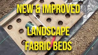 HOW TO: Make IMPROVED landscape fabric bed covers