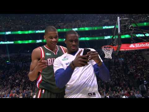 Giannis Antetokounmpo Gets Assistance from his Brother: 2015 Sprite Slam-Dunk Contest