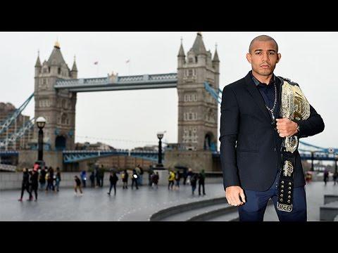 Conor McGregor and Jose Aldo in London