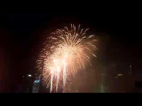 NDP 2015: Fireworks light up the Singapore sky