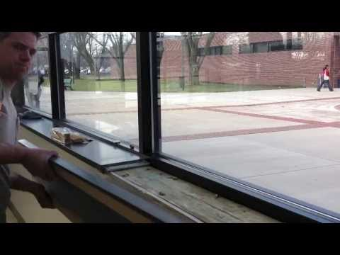 installing a countertop at Lincoln Land Community College