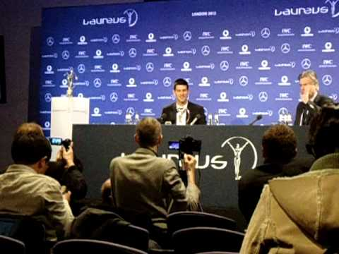 Novak Djokovic - press conference at Laureus 2012 - his relationship with Italy