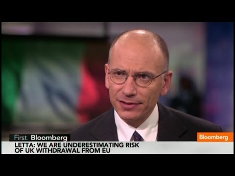 Italian PM Enrico Letta: U.K. Leaving the EU Is a Real Threat