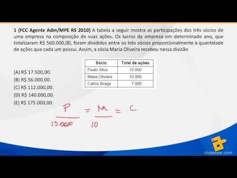 Aulão Estude Direito - Matemática - Razão, Proporção e Regras de Três