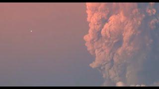 Registran supuesto ovni durante erupción del volcán Calbuco