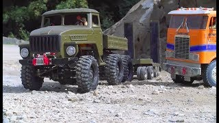 Cool RC Trucks in Action! Heavy Volvo Dumper A45G! Strong Tamiya Globe Linder