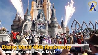 Disney World 45th Anniversary Celebration at Magic Kingdom
