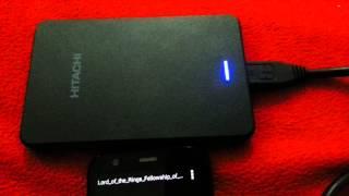 Moto G ligado em HD externo de 1 TB