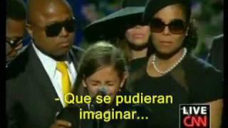 Despedida a Michael Jackson de su hija