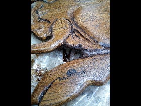 Как сделать очень необычный дубовый разнос своими руками))#forestlamp