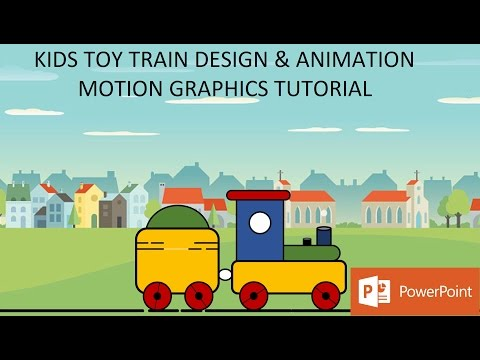 Kids Toy Train Design and Animation | Motion Graphics in PowerPoint 2016 Tutorial