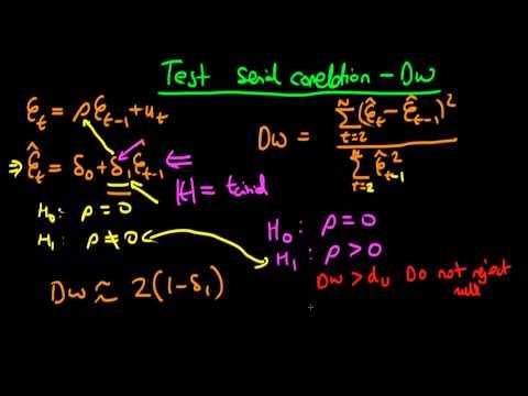 Serial Correlation - The Durbin-Watson Test