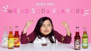 Kids Try Weird Soda Flavors | Kids Try | HiHo Kids