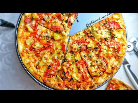 Пицца. Ең жақсы рецепт. Пицца қамыры