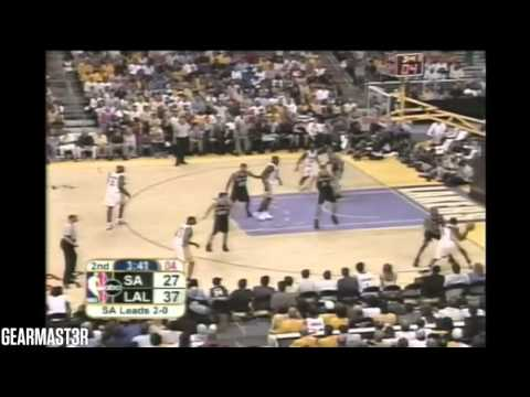 Los Angeles Lakers' Big 4 vs Spurs Full Highlights (2004 WCSF GM3) (2004.05.09)
