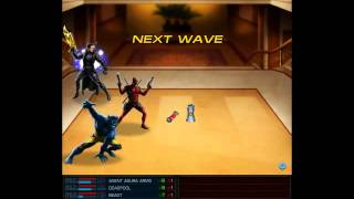 Marvel Avengers Alliance (MAA) FACEBOOK Deadpool - Beast Gameplay