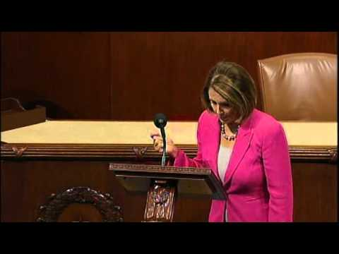 """I Will Not Yield to You!"" Speech by Rep Nancy Pelosi"