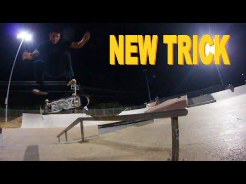 NEW TRICK   Nollie Heel BS Boardslide
