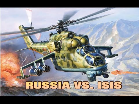 RUSSIAN HELICOPTERS ATTACKING ISIS. AIRSTRIKE IN SYRIA 2015