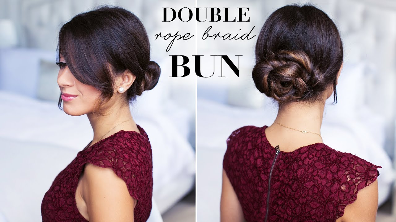Double Rope Bun Hair Tutorial YouTube