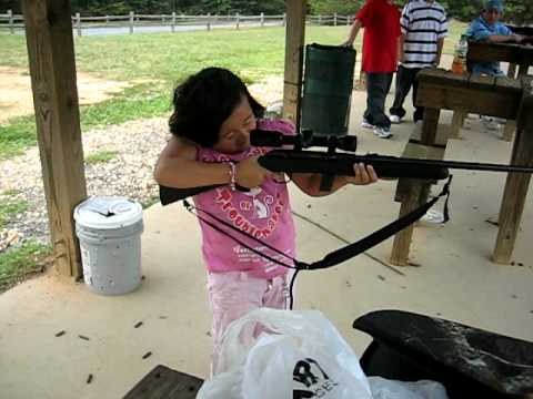 little hmong girl with big gun