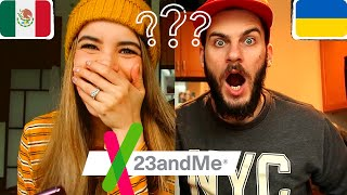 23andMe Mexican + Ukrainian Couple | CRAZY RESULTS!!