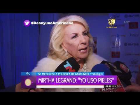 Mirtha Legrand cuestionó las fotos de Vannucci y Garfunkel y reconoció que usa pieles