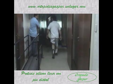 Protesis silicon liner con pin distal