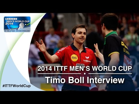 2014 Men's World Cup - Timo Boll Interview